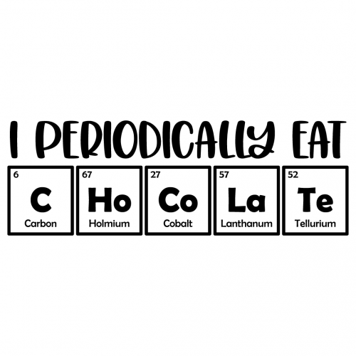 Science Periodically Eat Chocolate Free SVG Files