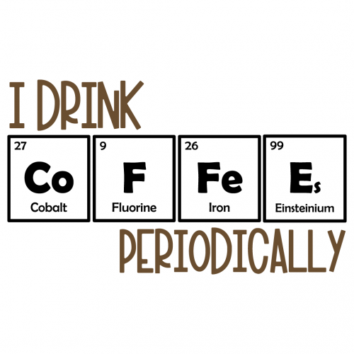 Science I Drink Coffee Periodically Free SVG Files
