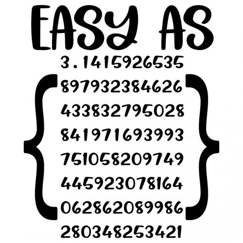 Math Easy As Pi Free SVG Files