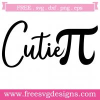 Math Cutie Pi Free SVG Files