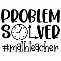 Problem Solver Math Teacher Free SVG Files