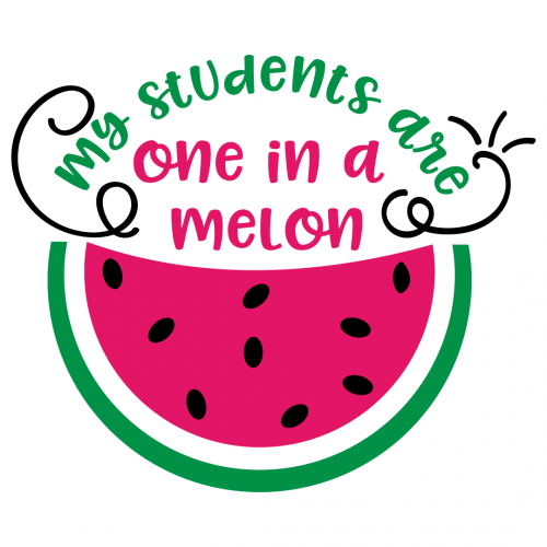 Students One In A Melon Free SVG Files