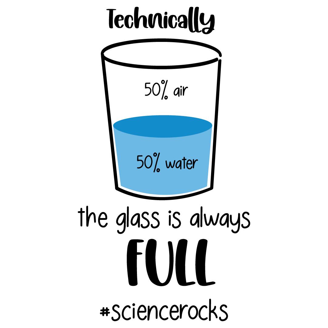 Science Rocks Glass Half Full Free SVG Files