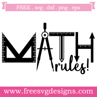 Math Rules Free SVG Files