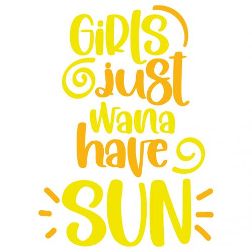 Summer Girls Just Wana Have Sun Free SVG Files