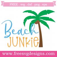 Summer Beach Junkie Free SVG Files