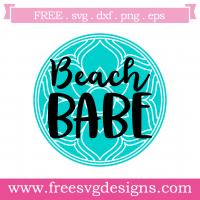 Summer Beach Babe Free SVG Files