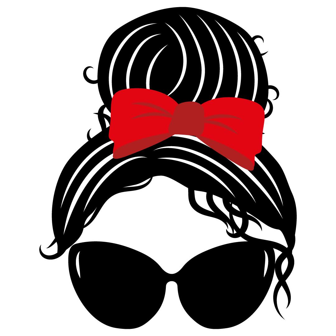Mom Bun Sunglasses Free SVG Files