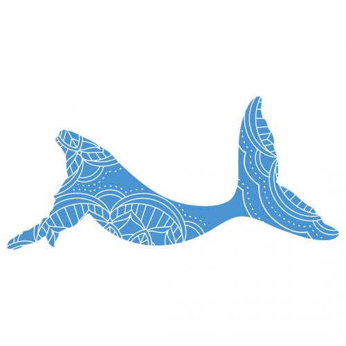 Mandala Boho Whale Silhouette Free SVG Files