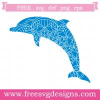 Mandala Boho Dolphin Free SVG Files