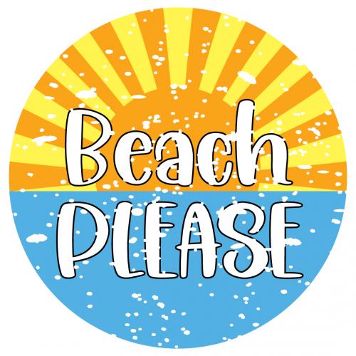 Beach Please Distressed Grunge Free SVG Files