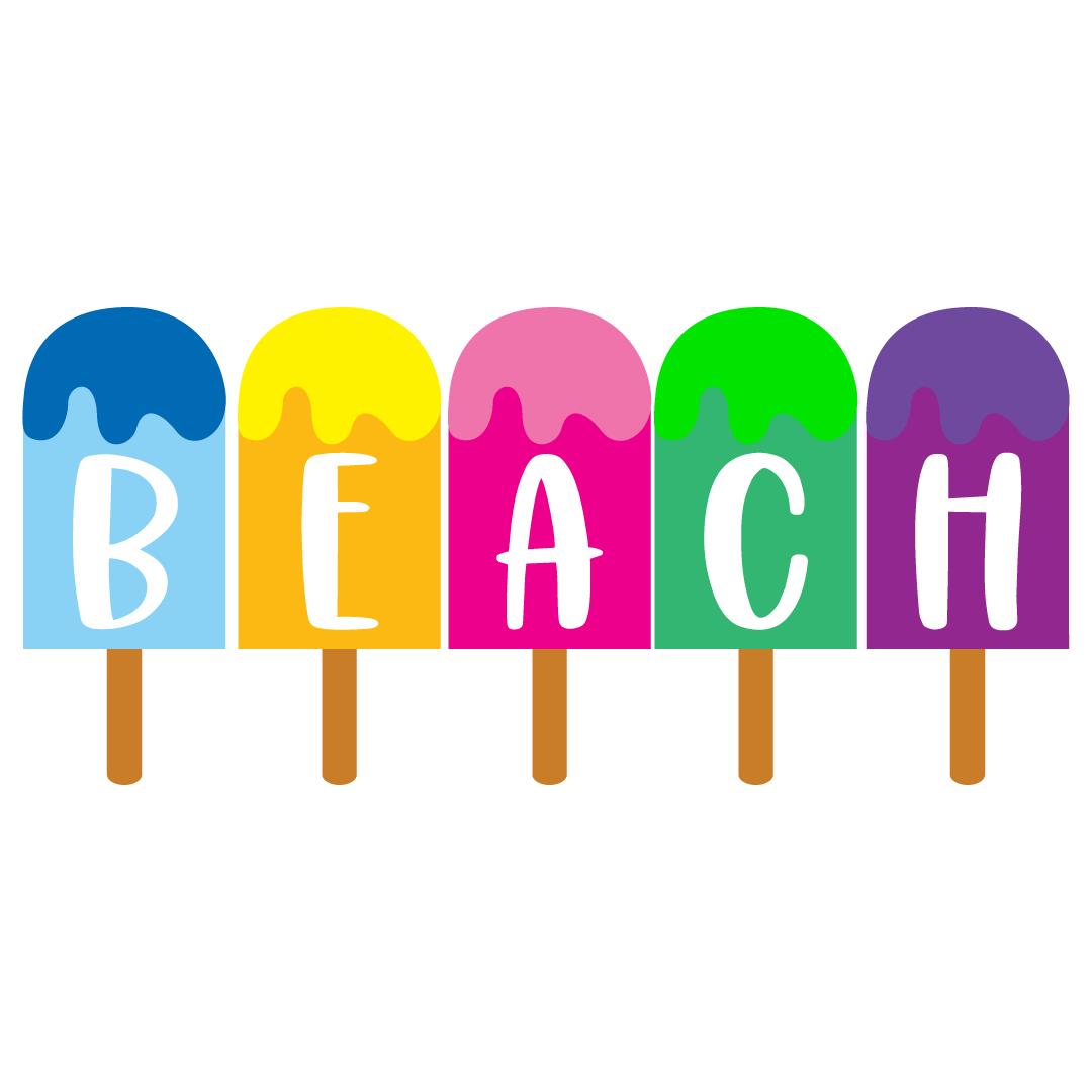 Ice Cream Beach Free SVG Files