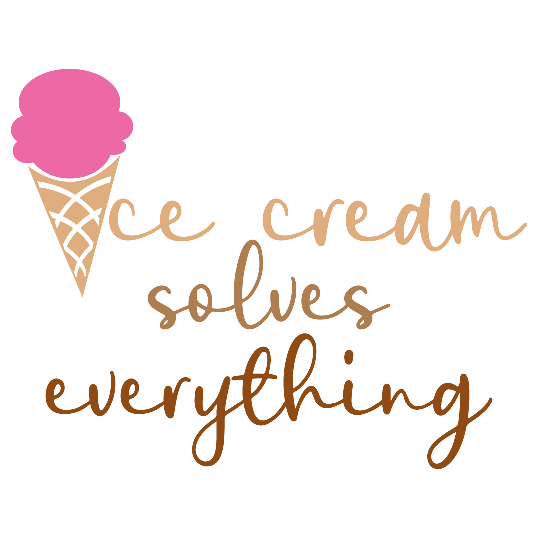 Ice Cream Solves Everything Free SVG Files