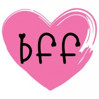 Brush Stroke Love Heart BFF Free SVG Files