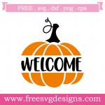 Fall Halloween Welcome Pumpkin Free SVG Files