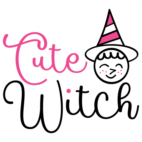 Halloween Cute Witch Quote Free SVG Files
