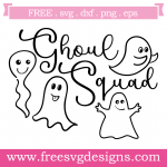 Halloween Ghoul Squad Quote Free SVG Files