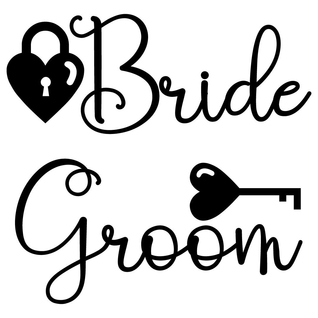 Wedding Bride Groom Free SVG Files