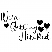Wedding Were Getting Hitched Free SVG Files