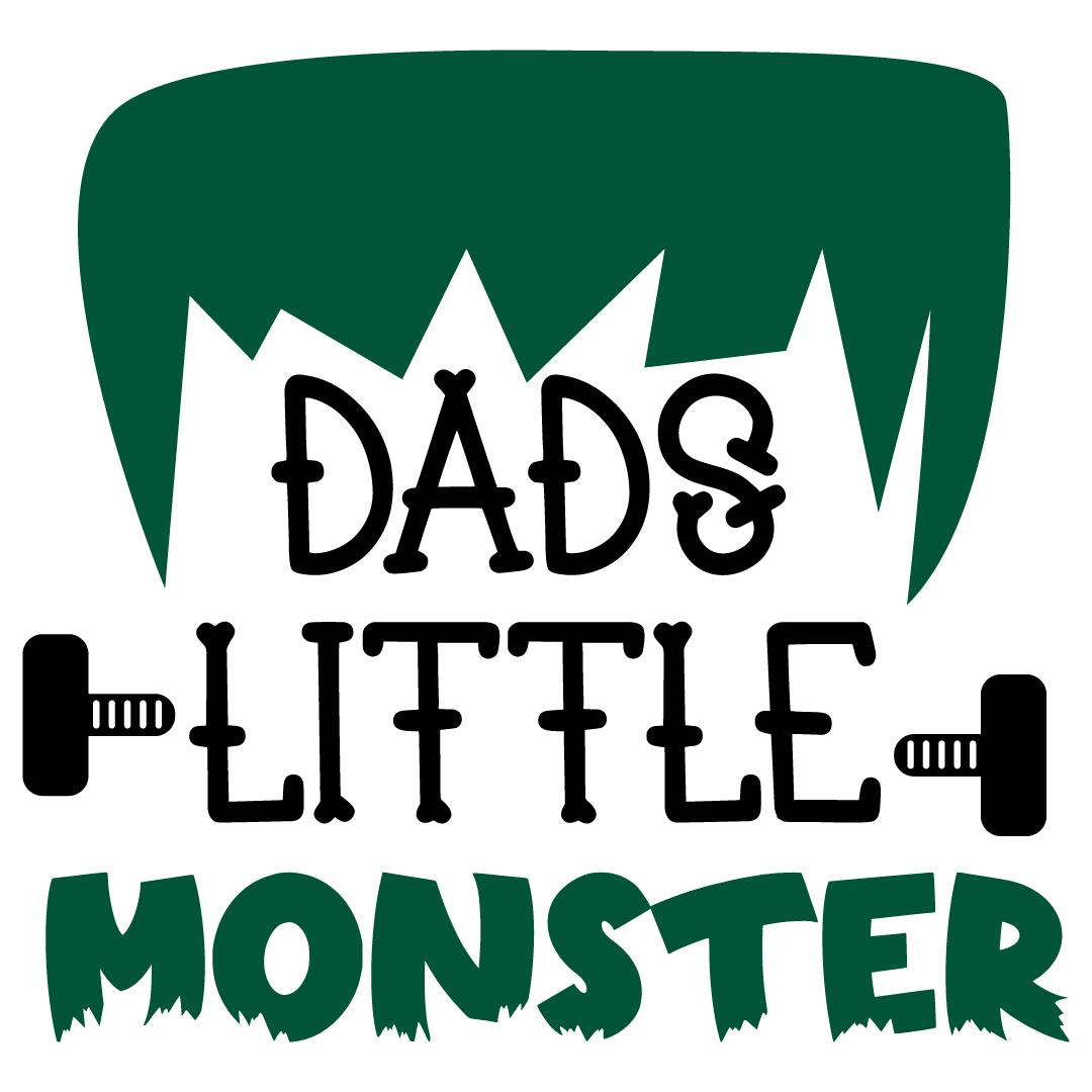 Halloween Dads Little Monster Free SVG Files