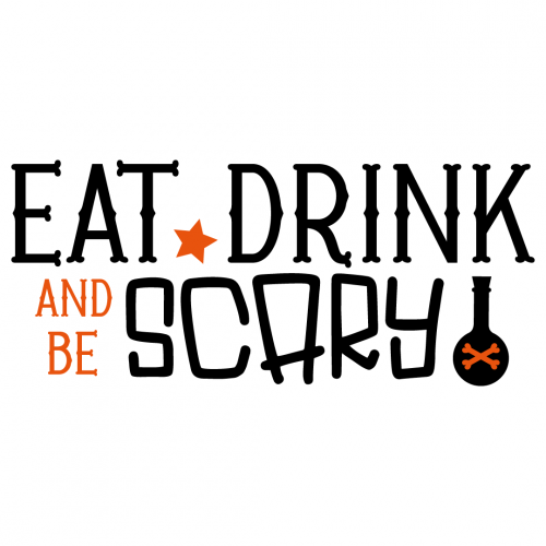 Halloween Eat Drink Be Scary Quote Free SVG Files