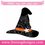 Halloween Mandala Witches Hat Free SVG Files