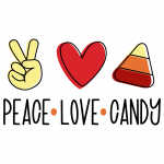 Halloween Peace Love Candy Free SVG Files