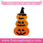 Halloween Pumpkins Witches Hat Free SVG Files
