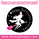 Happy Halloween Witches Free SVG Files