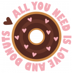 All You Need Is Love And Donuts Free SVG Files