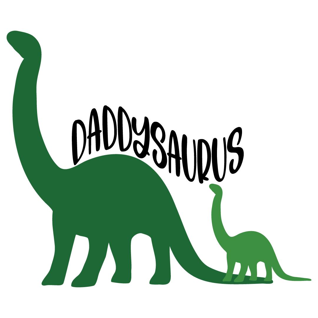 Daddysaurus Dinosaur Free SVG Files