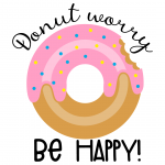 Donut Worry Be Happy Free SVG Files