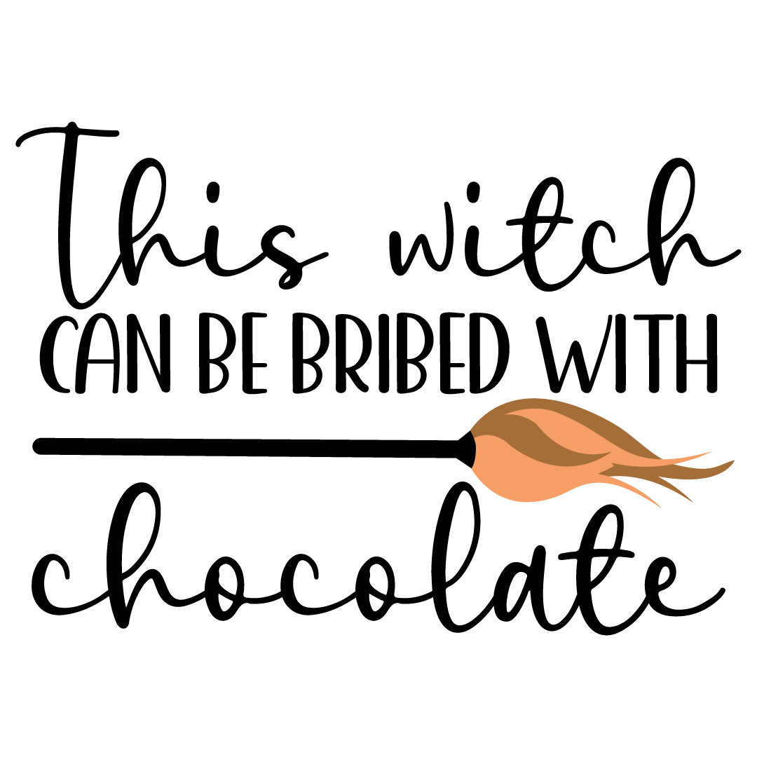 Halloween This Witch Can Be Bribed With Chocolate Free SVG Files