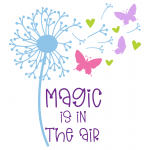 Magic Is In The Air Dandelion Butterflies Free SVG Files