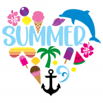 Summer Heart Collage Free SVG Files