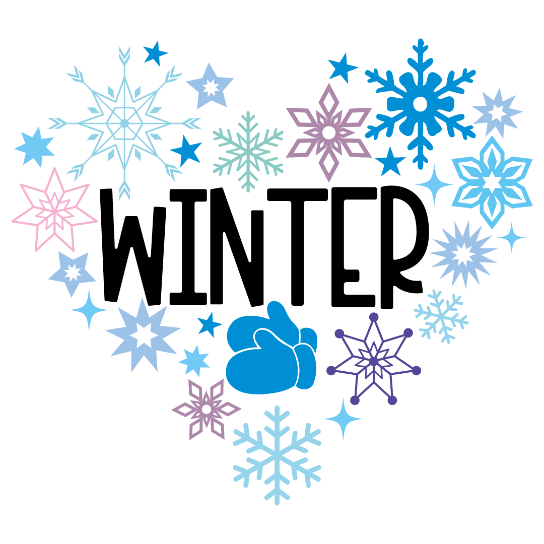 Winter Heart Collage Free SVG Files